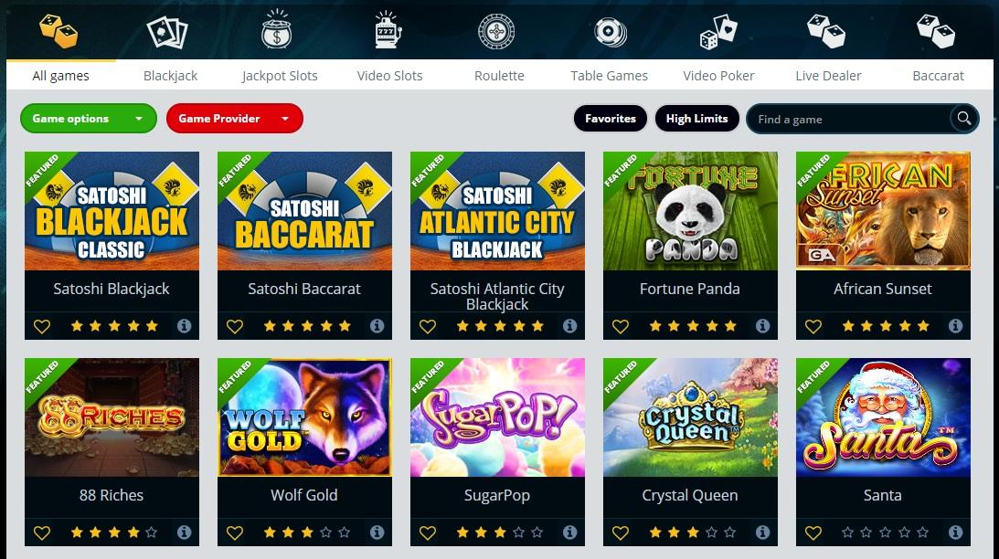vegascasino.io bitcoin casino games