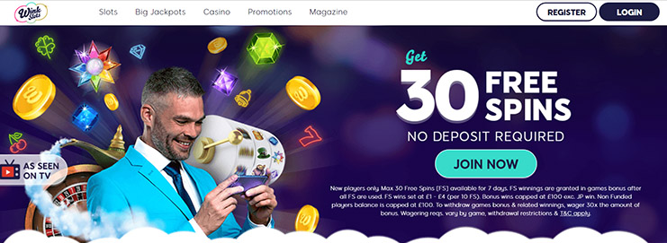 wink slots casinos website